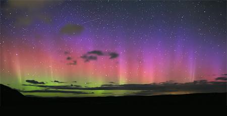 Aurora Australis in New Zealand.