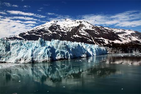 Glacier at Glacier Bay.