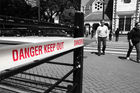 Danger, keep out.
