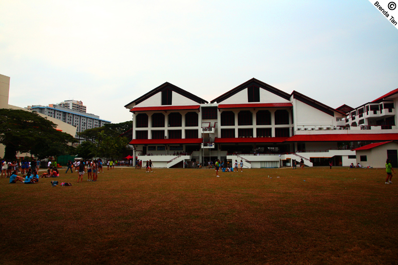 The large school field.